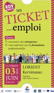 Affiche Ticket pour l'emploi 2016