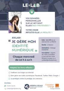 Flyer Atelier Identité numérique